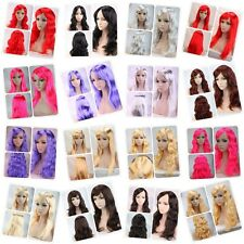 100% Cheap Cosplay Costume Full Wig Curly Straight Breathable Wigs For Womens US