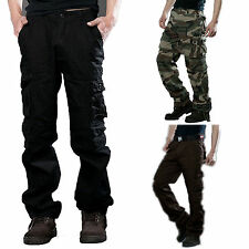 Military Pants Mens Army Camo Work Cargo Combat Harem Casual Trousers Bottoms