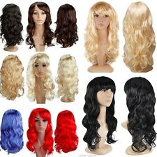 Local Ship Curly Straight Party Costume Full Wig Black Brown Blonde Cosplay Wigs