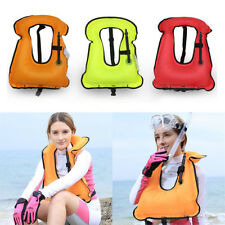 Adult Inflatable Life Jacket Vest for Snorkeling Surfing Boating Swimming