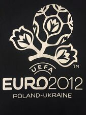 UEFA Euro 2012 Football Soccer Poland Ukraine Tee T Shirt Black Men's L Vintage