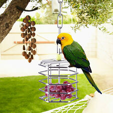 Stainless Steel Pet Bird Hanging Foraging Cage Parrot Pigeon Entertainment Toys