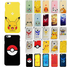Pokemon Go Pikachu Soft/Hard Mobile Case Covers Skins For iPhone 5 6 6s Plus New