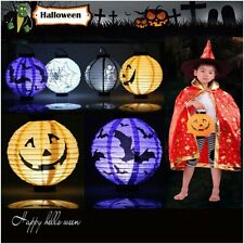 Halloween Festival Party Decor LED Pumpkin Spider DIY Paper Lantern Lamp New