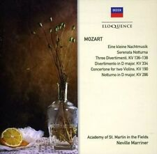 Mozart:serenades & Divertimenti - Neville Marriner Compact Disc