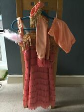 Bespoke Coral GoldTap Modern or Cabaret Flapper style Dance costume 10-11 Years