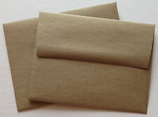 A2 Brown Bag / Grocery Bag Envelopes Square.Flap  4 3/8 x 5 3/4