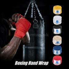 Hand Wraps Bandages Fist Boxing Inner Gloves Mitts MMA Cotton Pair L0Y9