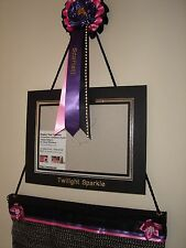 Display your rosettes / wall hanger with personalised rosette and photo frame