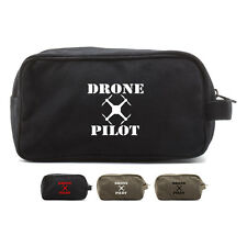 Drone Pilot Canvas Shower Kit Travel Toiletry Bag Case