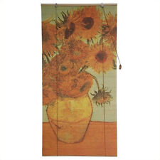 Oriental Furniture Sunflowers Bamboo Blinds in Multicolor