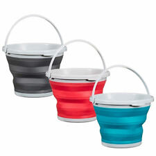 Silicone Collapsible 10L Bucket Ideal For Camping Fishing Caravans & Home New