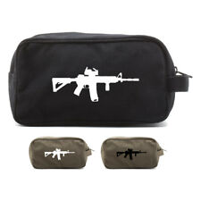 Army Force Gear AR 15 M4 M16 Assault Rifle Scope Military Travel Toiletry Bag