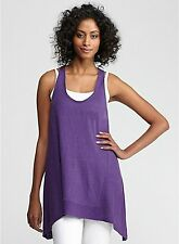 $158 BNWT EILEEN FISHER Linen Jersey AFRICAN VIOLET Racerback Tunic Top S M L