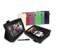 SMART STAND LEATHER CASE COVER FOR KINDLE FIRE - CARBON FIBRE - STYLUS PEN