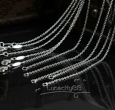 "20PCS/Lots Rolo Link CHAINS 1mm Necklaces 16"",18"",20"",22"",24inch Wholesale Price"
