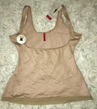 Womens S M XL 3X SPANX Slimplicity NUDE Control Open Bust Cami Tank Top Shaper