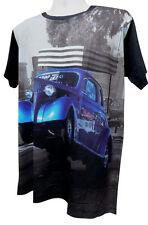 hot Rod wheelie retro vintage style all over  Graphic T-Shirt Black uo to 3XL