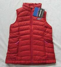 PATAGONIA girls brick red down sweater vest puffer solid zip up NEW