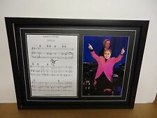 Elton John Genuine Hand Signed/Autographed Songsheet with a Photograph and COA