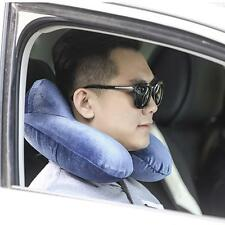 Portable U-Shaped Inflatable Pillow Travel Plane Office Rest Neck Air Cushion