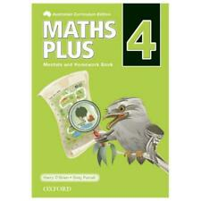 NEW Maths Plus Aus Curriculum Edition Mentals & Homework Book 4 Revised Ed 2016