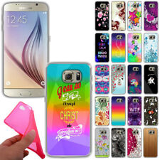 For Samsung Galaxy S6 G920 TPU Slim Flexible Gel Silicone Rubber Skin Case Cover