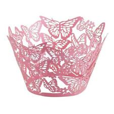 50pcs New Butterfly Cup Cake Wrapper Wrap Tray Wedding Birthday Party Liner Case