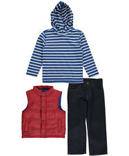 "Nautica Little Boys' Toddler ""Striped Sails"" 3-Piece Outfit (Sizes 2T - 4T)"