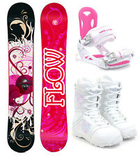 2017 FLOW Tula 151cm Women's Snowboard+M3 Bindings+M3 Boots NEW