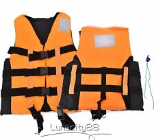 Polyester Life Jackets Universal Swimming Boating Ski Vest With Whistle M~XXL