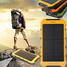 18000mAh Solar Panel 2A 1A Battery Power Bank External Portable Phone Charger Y