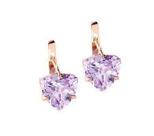 Earring With Colored Stones 14K Solid 3.77g Rose Gold 585 NEW #27329