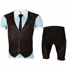 British style Men Cycling Jersey & Padded (Bib) Shorts Bicycle Bike Kits S-5XL