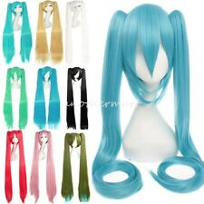 Free Shipping 80 100cm Long Hair Cosplay Wig Vocaloid Miku Hatsune Wig Ponytails
