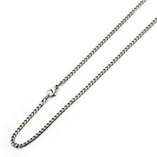 3.5mm Stainless Steel Chain Necklaces Cuban Link Curb Chain / Gift box