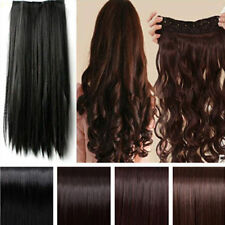 US Long 100% New Hair Extensions Clip in on Hair Extension Heat Resistant Hair
