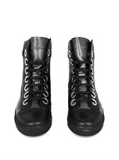 RAF SIMONS HIGH TOP FASHION SNEAKERS TRAINERS A$AP ROCKY BLACK STERLING RUBY