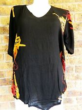BNWT  Plus Size V Bottom Tunic Top-Black- Curve Culture- Sizes 18,20,22,24,26,28