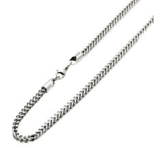 Men 4mm Stainless Steel Chain Necklaces  Franco Chain / Gift box / Ship from USA