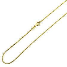 Men's 1mm 14K Yellow Gold Chain Rope Chain Necklace / Gift box / Ship from USA