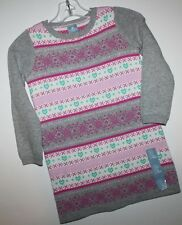 baby Gap NWT Girl's 3T 5T 100% Cotton Fair Isle Knit Sweater Dress Tunic