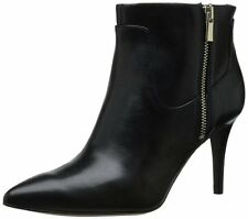 Nine West Women's Pirhanna Black Leather Ankle Boot