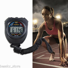 Hot Stopwatch LCD Digital Professional Chronograph Timer Counter Plastic Sports