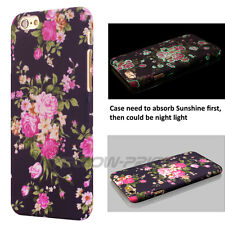Classical 3D Flower Pattern Hard Back Case Cover F iPhone 6 6S+ w/Anti-Dust Cap