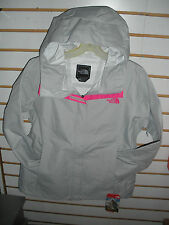 THE NORTH FACE WOMENS VENTURE RAIN JACKET- WATERPROOF -H R GREY H /PINK-S,M
