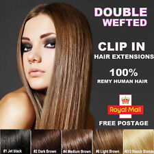 BEST Selling 8 Pieces Clip In Remy Human Hair Extensions Full Head US SHIP XL502
