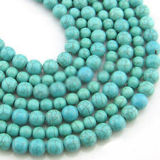 Wholesale 20-200Pcs Turquoise Round Loose Spacer Beads Jewelry Making 4/6/8/10mm