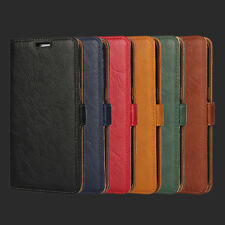 Luxury Soft Leather Flip Wallet Card Slot Case Cover For Sony Xperia Phones