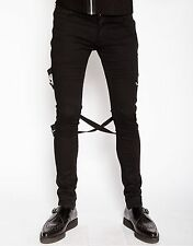 Tripp NYC Chaos Punk Rave Gothic Skater Bondage Urban Rock Mens Pants IS6037M
